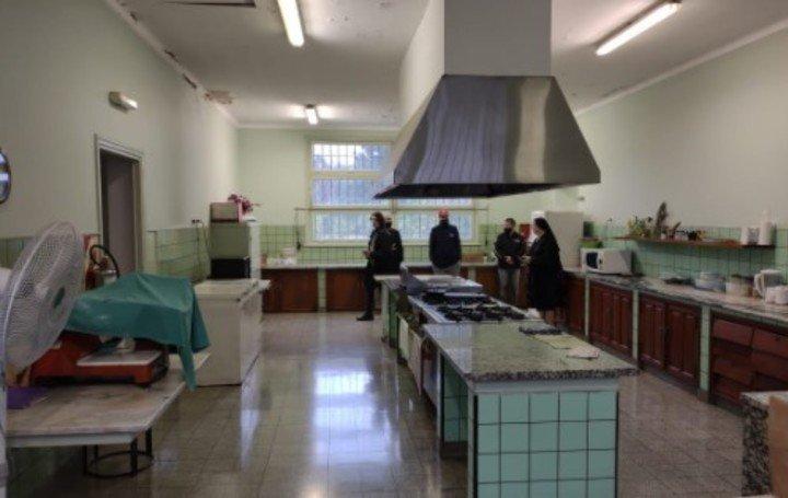 La cocina de la Casa de las Hermanas Trinitarias de Bolonia.
