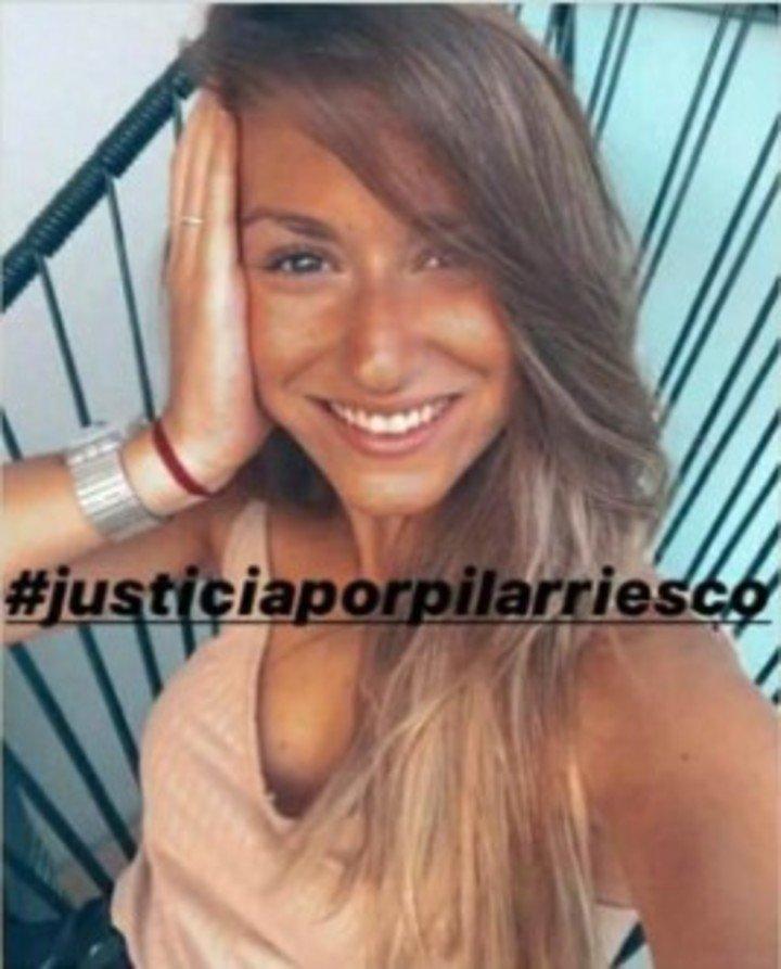 Pilar Riesco tenía 21 años.  Murió al caerse de un balcón del cuarto piso en Nueva Pompeya.