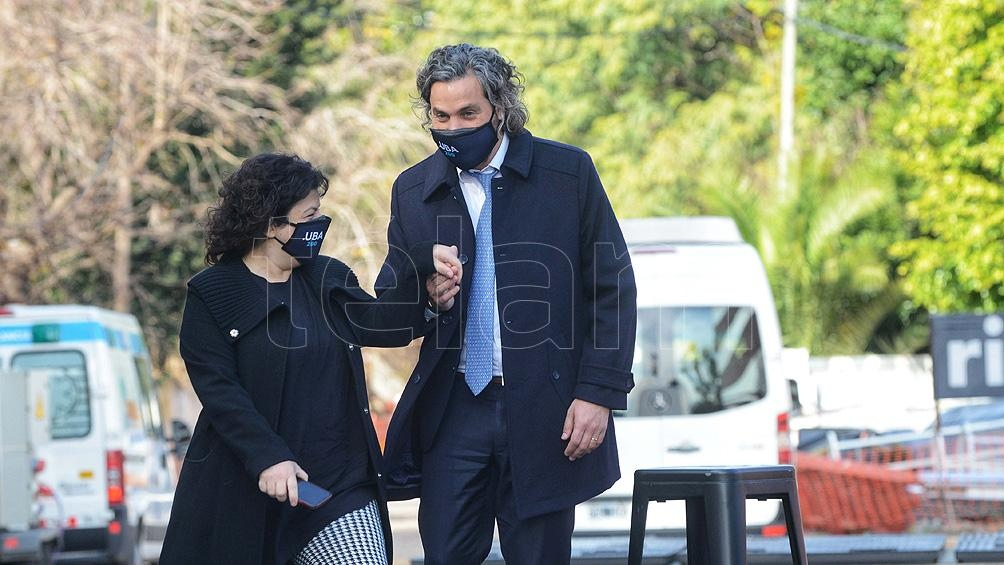 Santiago Cafiero y Carla Vizzotti acompañaron al Presidente en el Centro Argentino de Protonterapia del Instituto Oncológico Roffo.