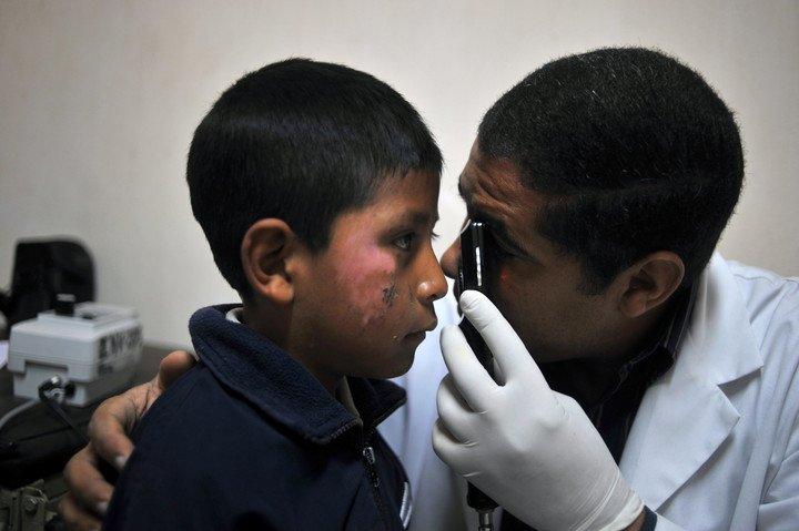 Médicos cubanos en Guatemala.  Foto: AFP