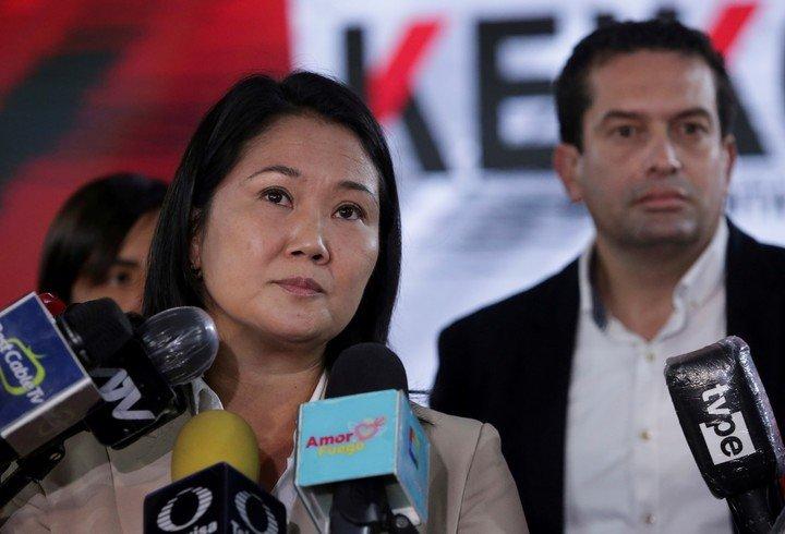 La candidata de derecha Keiko Fujimori denunció fraude en las elecciones del domingo.  Foto: REUTERS