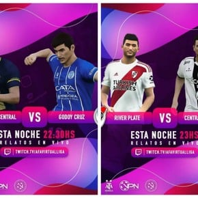 AFA Virtual Liga: River ganó con lo justo, goleó Central