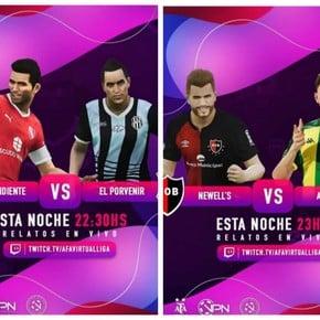 AFA Virtual Liga: Independiente empatado, goleado Newell
