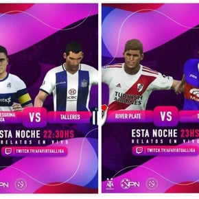 AFA Virtual Liga: Talleres ganó, River ganó