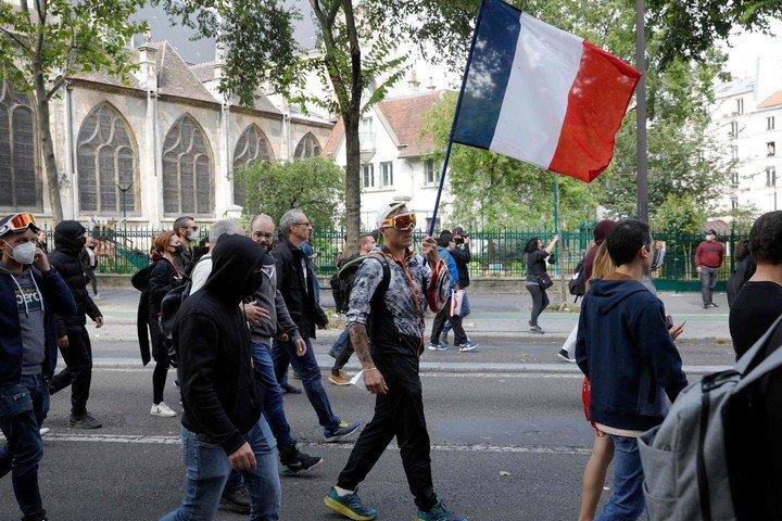 Las anti-vacunas demostraron en París y otras ciudades de Francia.  Foto: AFP