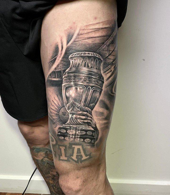 Di María lo lleva en la piel: su tremendo tatuaje de la Copa América.