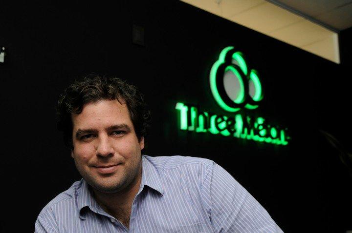 Patricio Jutard, en 2011, con su empresa de videojuegos.  Suplemento fotográfico PYMES