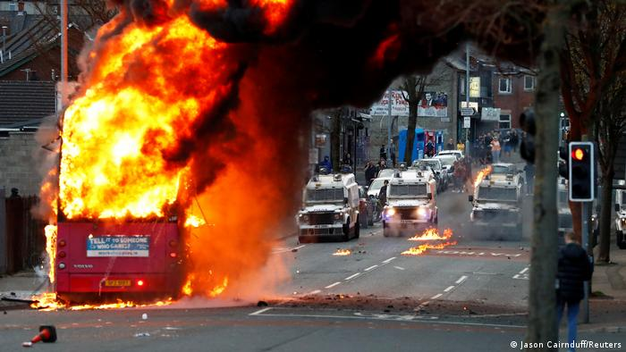 BG Irlanda del Norte - disturbios en Belfast