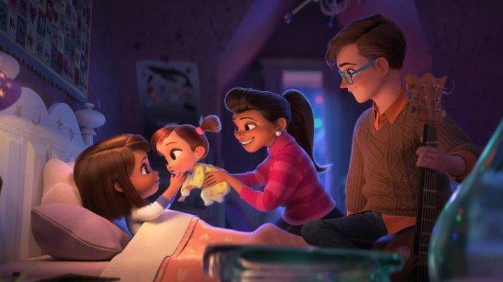 La familia unida.  No imaginan lo que pasará.  ¿O si?  Foto UIP