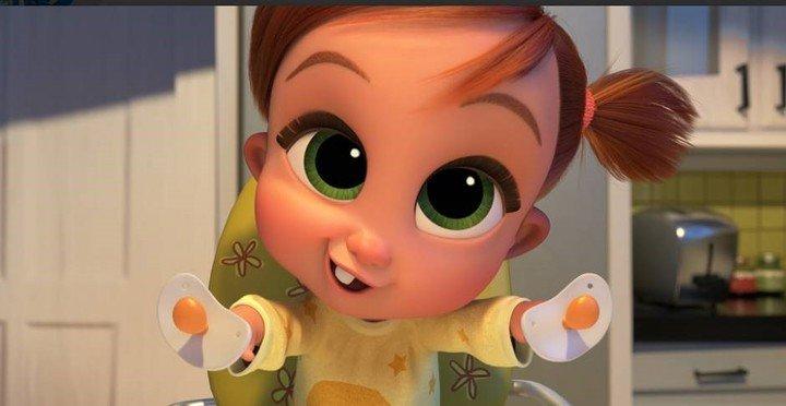 De tal tío, tal sobrina.  Tina, la niña que ahora es agente de BabyCorp.  Foto UIP