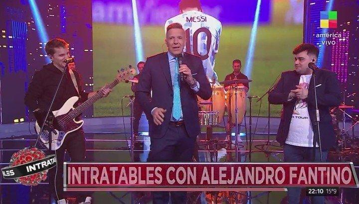 """Fantino debutó como director de """"Intratable"""" con un show musical dedicado a la Selección Argentina."""