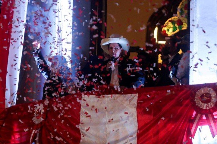 La fiesta de Pedro Castillo.  Foto de Reuters