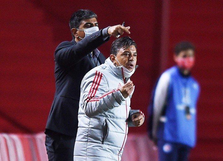 Gallardo y su Rio irán a Mineiro.  REUTERS / Marcelo Endelli
