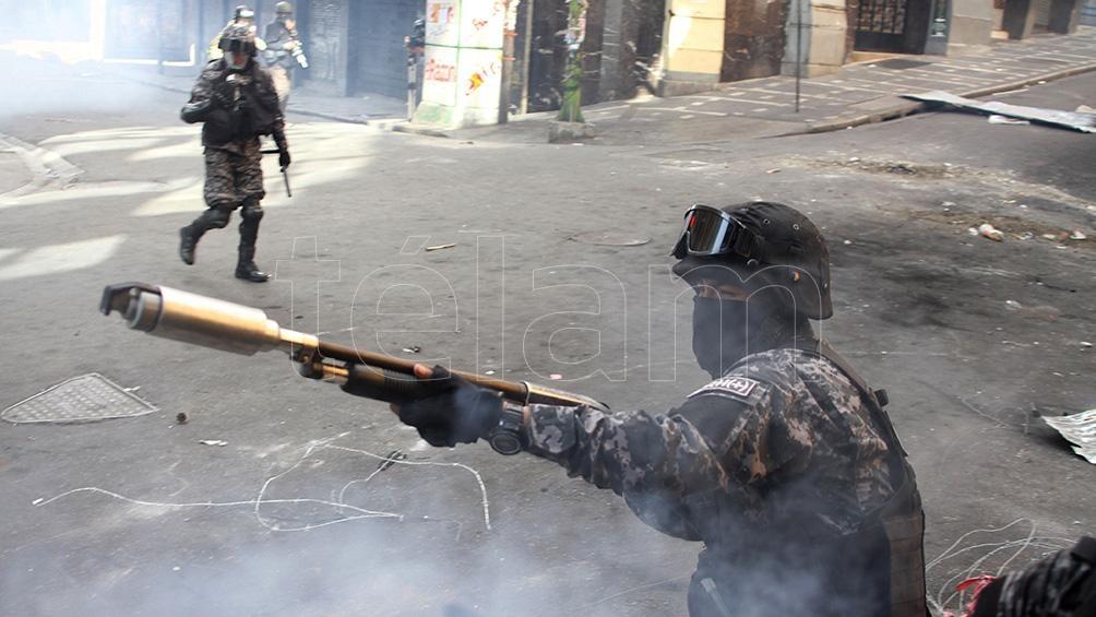 La denuncia no incluirá información sobre las sospechas relacionadas con quiénes o quiénes fueron los encargados de poner las armas en manos de las fuerzas de seguridad bolivianas.  Foto: Pablo Aeli