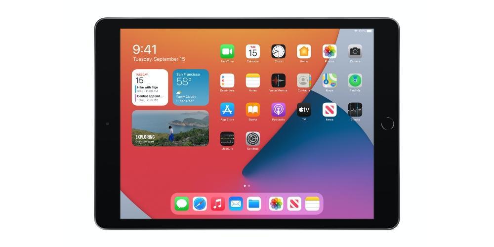 iPadOS 14 en iPad 8 2020