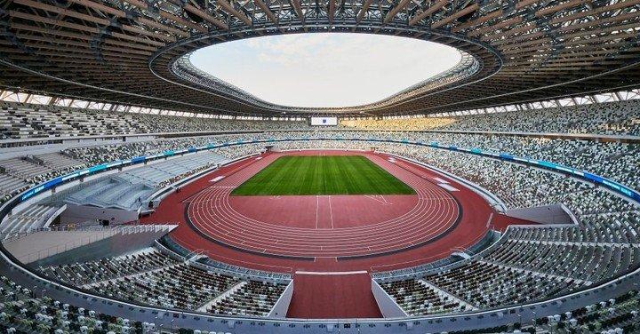 El nuevo Estadio Nacional de Tokio para los Juegos Olímpicos de 2020, donde se llevará a cabo la ceremonia de apertura.