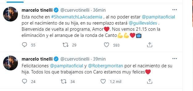 Pampita era mamá: Marcelo Tinelli anunció quién la reemplazará en la Academia
