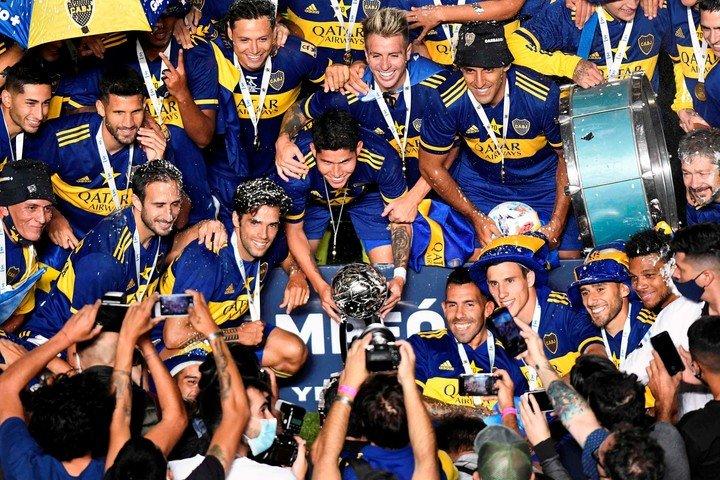 Boca necesita ganar la Copa Argentina para jugar la Libertadores.  (Foto de Andres LARROVERE / varias fuentes / AFP)