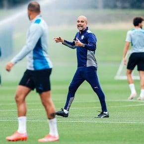 """Guardiola: """"No estoy pensando en el PSG"""""""