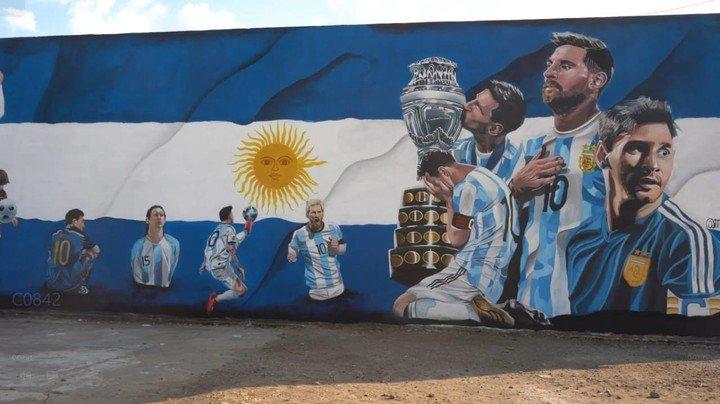 Mural de Messi en Córdoba (Diario El Periódico).