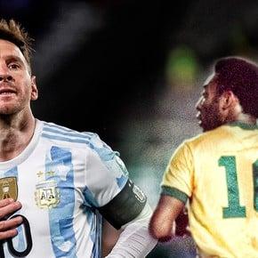 La demora de Pelé en saludar a Messi para el registro