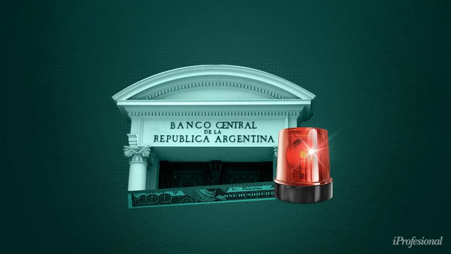 El Banco Central, en situación de riesgo: comienza a sufrir el drenaje de reservas a la par que aumenta su asistencia monetaria al Tesoro