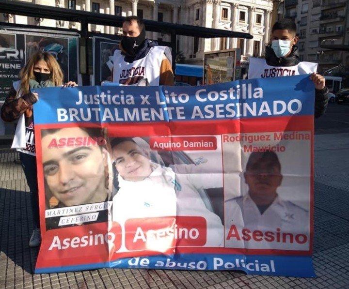 """La demanda de justicia para """"Litho"""" Costilla, en La Plata.  Foto de Facebook"""