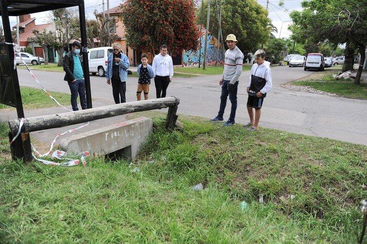 El lugar donde se encontró el cuerpo de Magalí Noelia Gómez (27) en El Talar.
