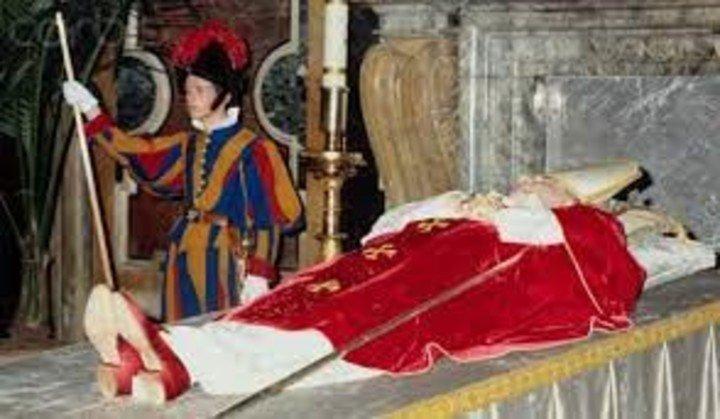 El funeral del Papa Juan Pablo I.