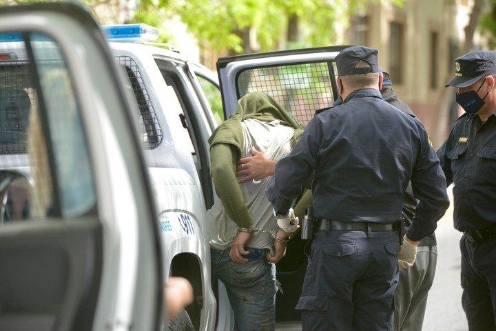 Uno de los detenidos por el crimen de Lucas Cancino.  Foto: Andrés D'Elia