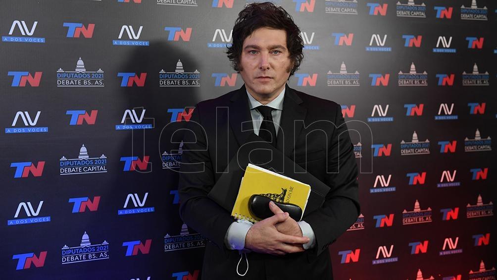 "Javier Milei volvió a destacar ""la casta política"" (Foto: Maximiliano Luna)."