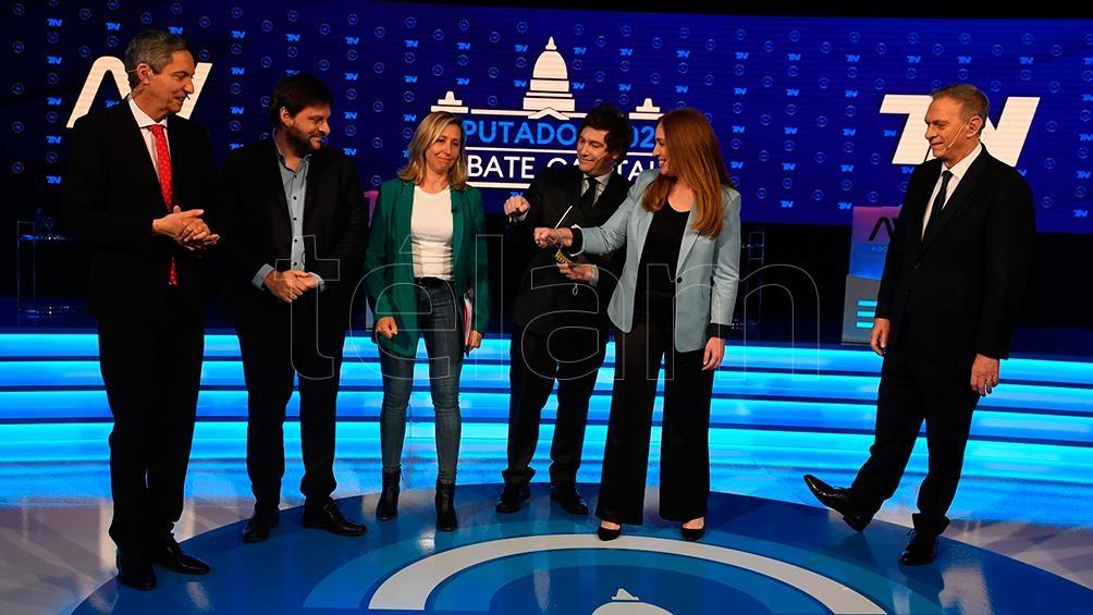 Santoro, Bregman, Milei y Vidal, entre los presentadores de televisión (Foto: Maximiliano Luna).