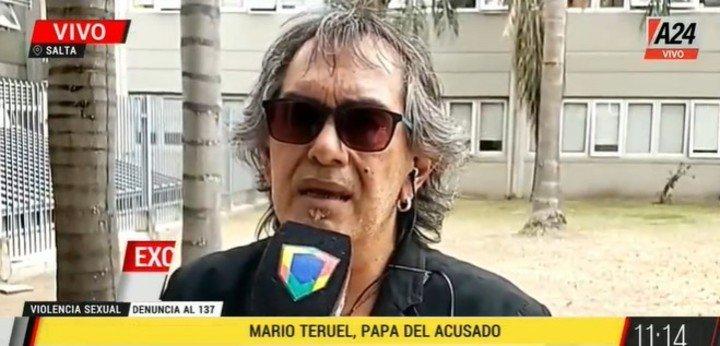 Mario Teruel, padre de Lautaro y músico de Los Nocheros.