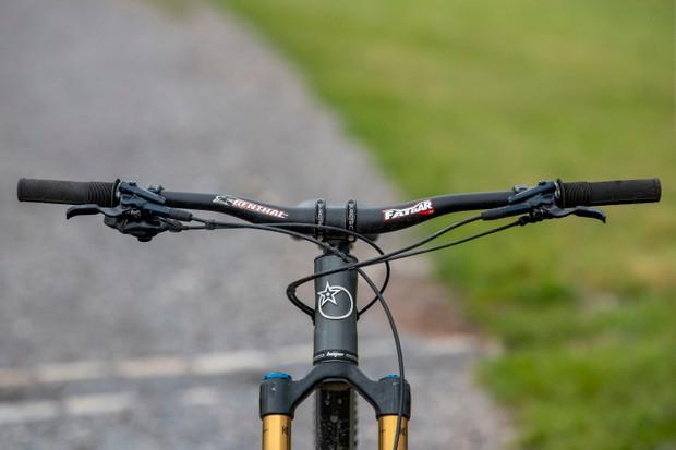 Mountain bike handlebar upsweep and rise